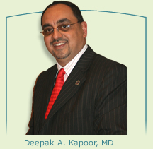 Dr. Deepak A. Kapoor at Yankee Stadium for Prostate Cancer Awareness Month